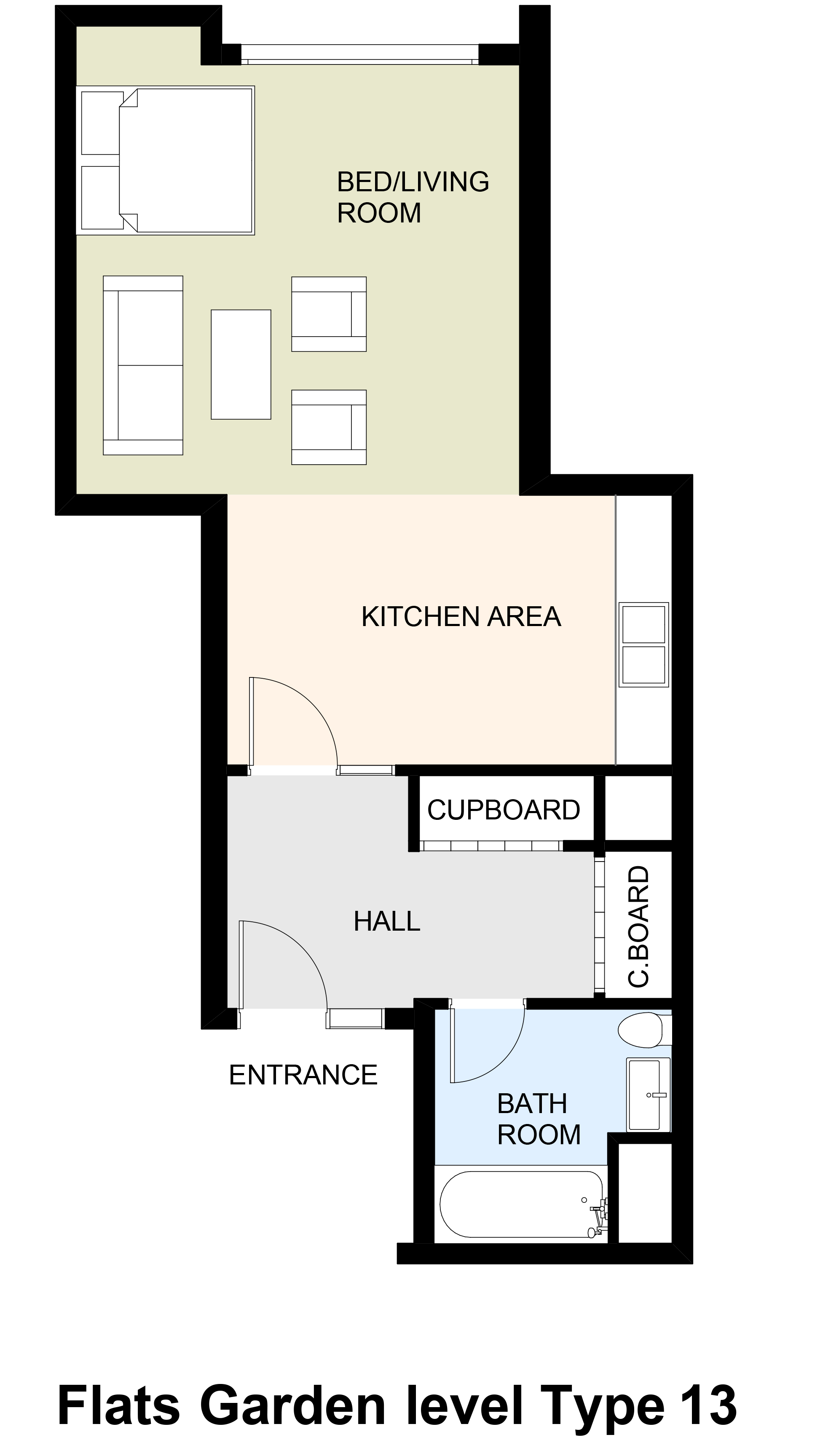 Flats Garden level Type 13