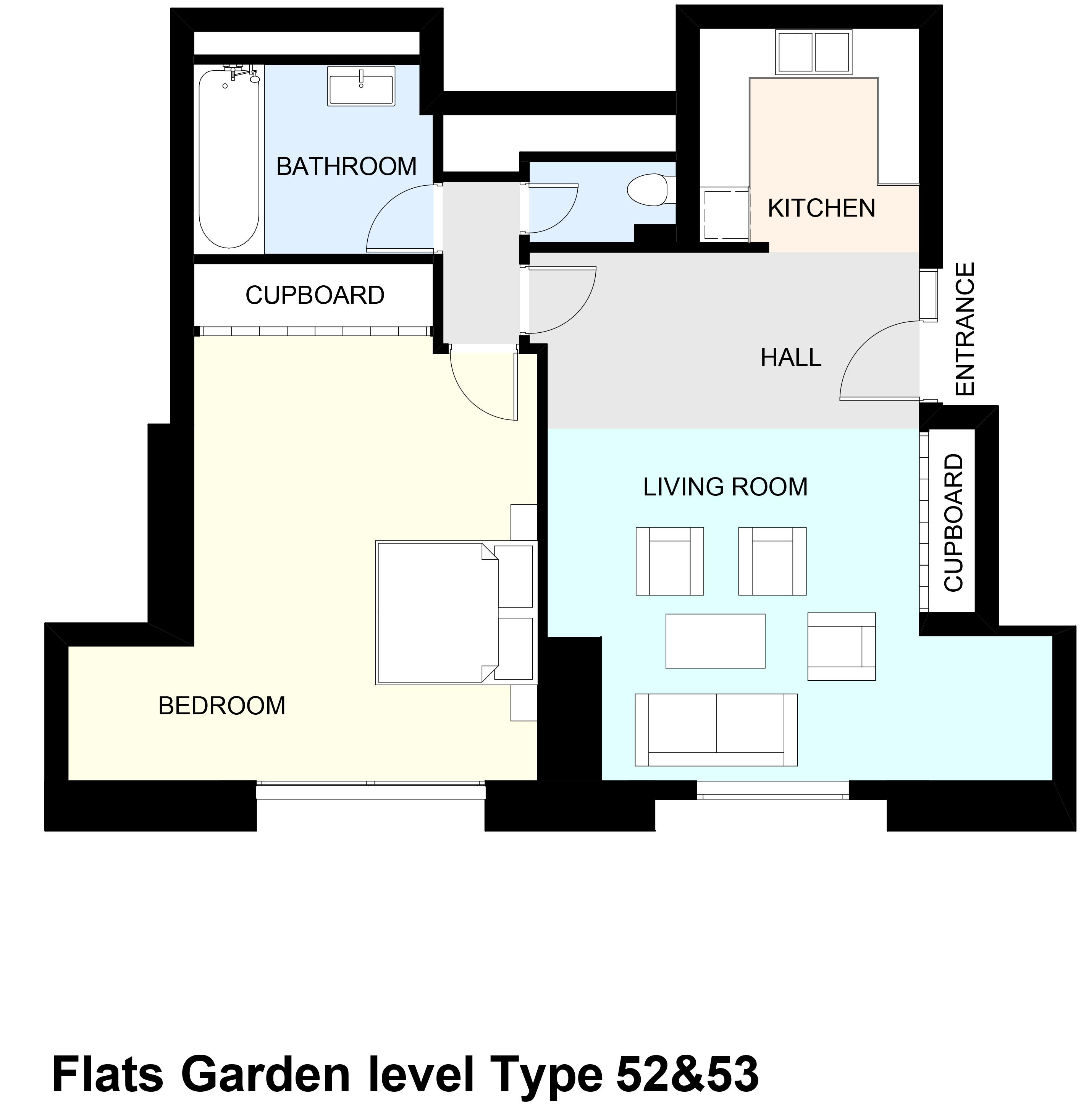 Flats Garden level Type 52&53