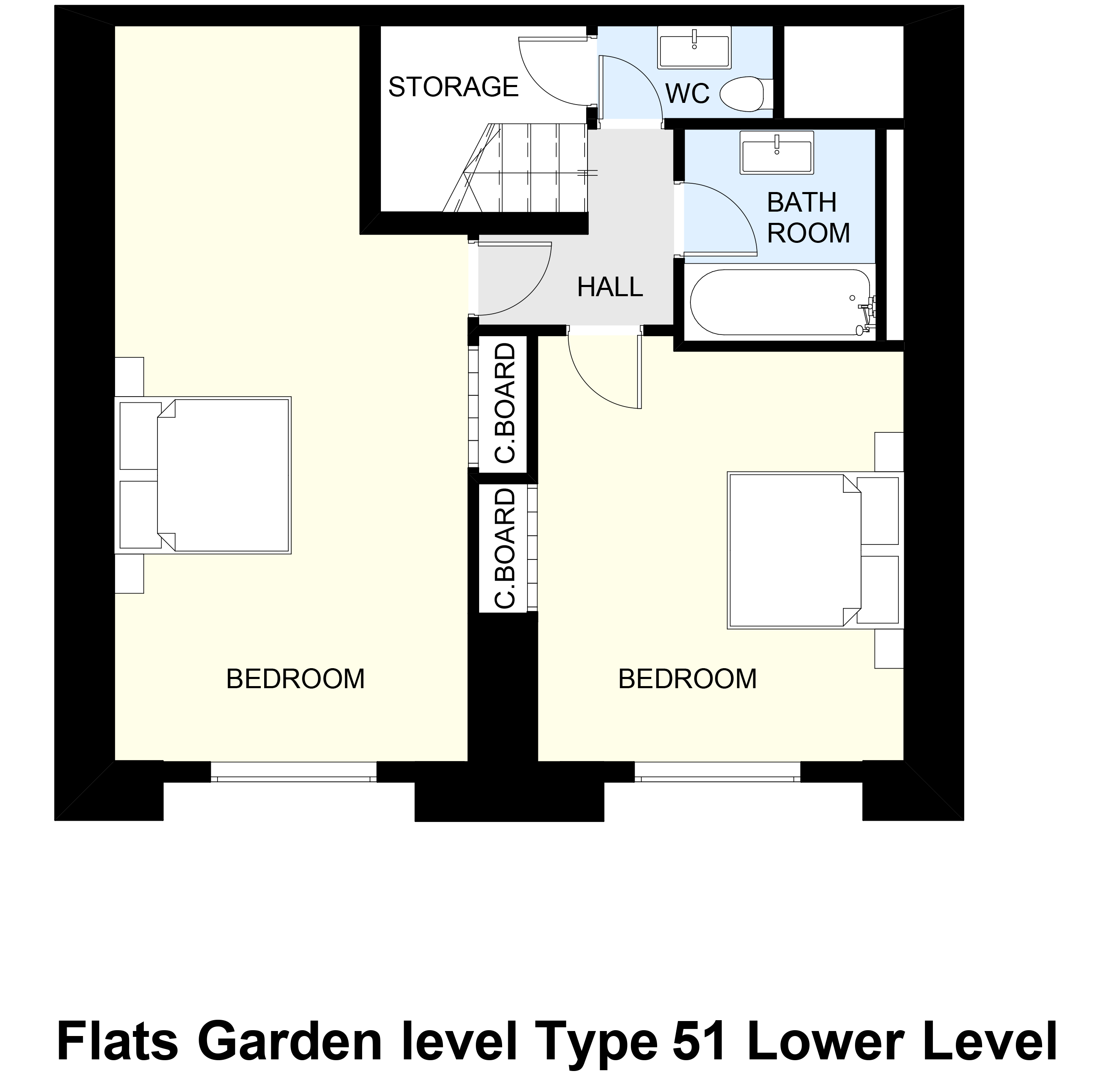 Flats Garden level Type 51 Lower Level