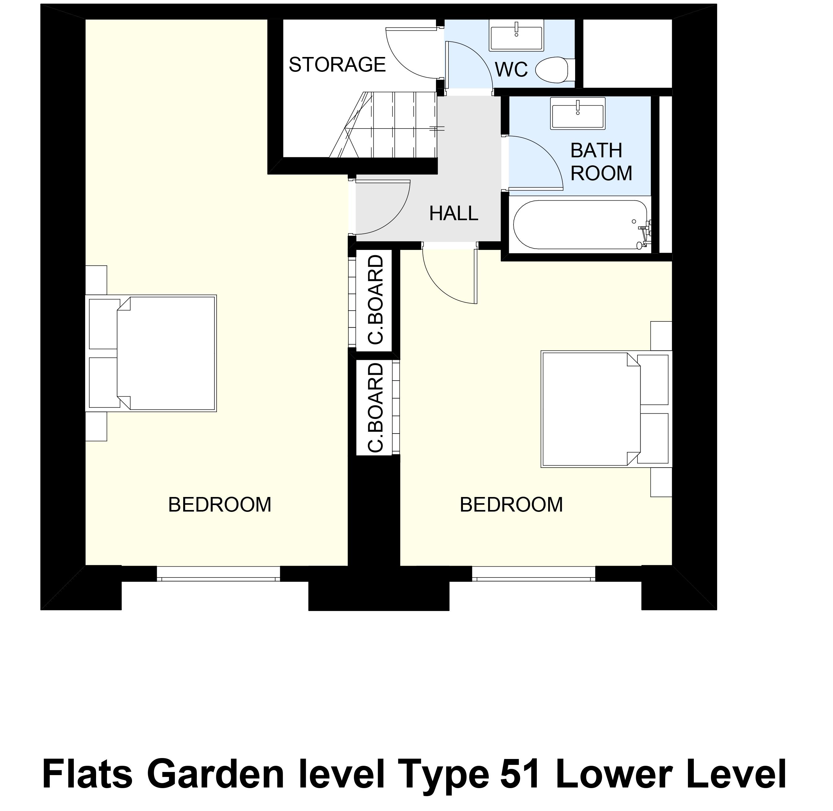 Flats Garden level Type 51 Lower Level