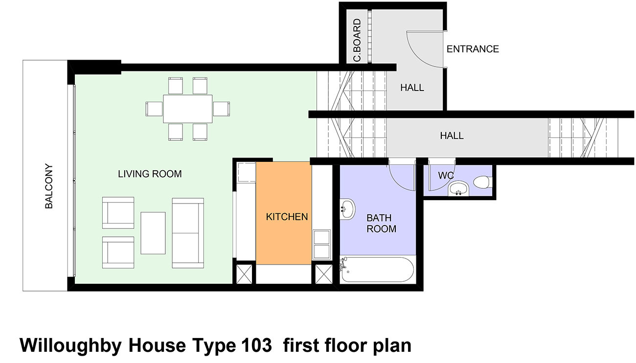 Type 103 barbican living Types of house plans